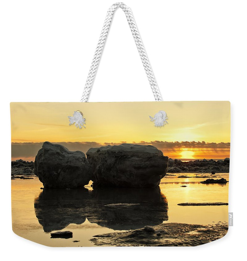 Sunset Weekender Tote Bag featuring the photograph It's Golden by Ted Raynor