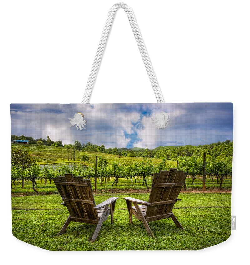 Appalachia Weekender Tote Bag featuring the photograph It's Happy Hour by Debra and Dave Vanderlaan