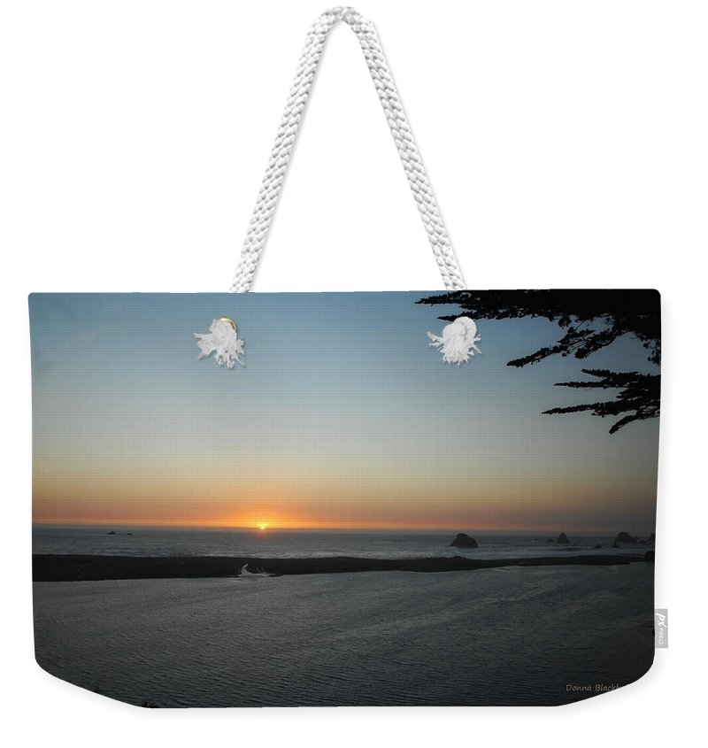 Sunset Weekender Tote Bag featuring the photograph It's Hard To Say Goodbye by Donna Blackhall