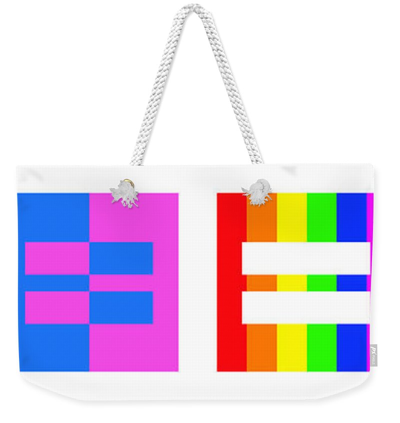 Equality Weekender Tote Bag featuring the painting It's Time - Equal Rights For All By Sharon Cummings by Sharon Cummings