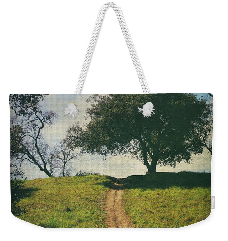 Lafayette Reservoir Recreation Area Weekender Tote Bag featuring the photograph It's Time To Get Up That Hill by Laurie Search