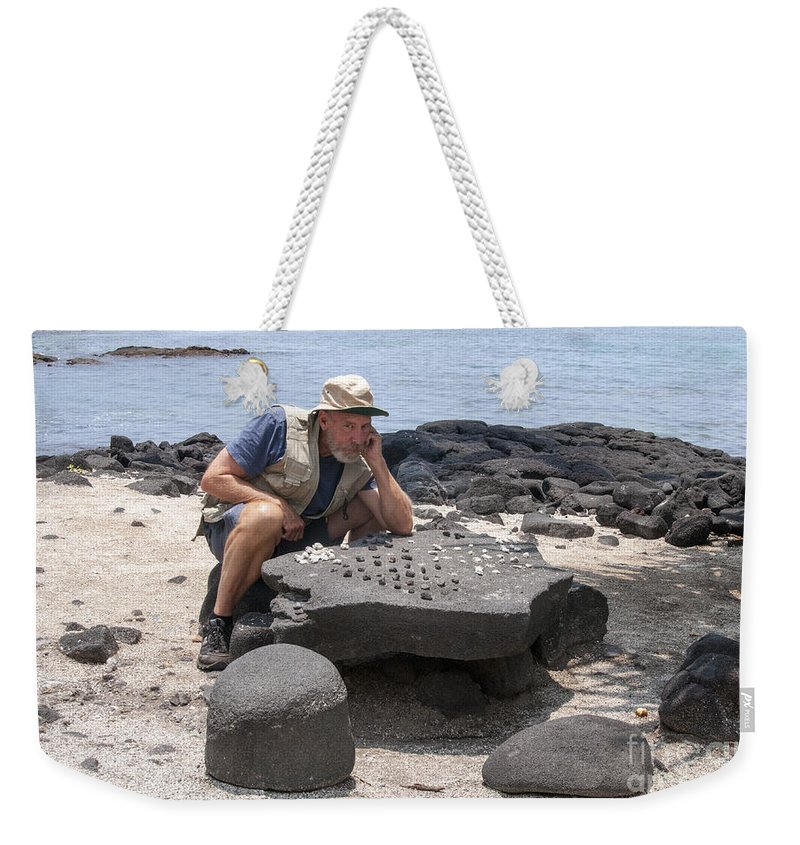 Pu'uhonaua O Honaunau Weekender Tote Bag featuring the photograph It's Your Move by Bob Phillips