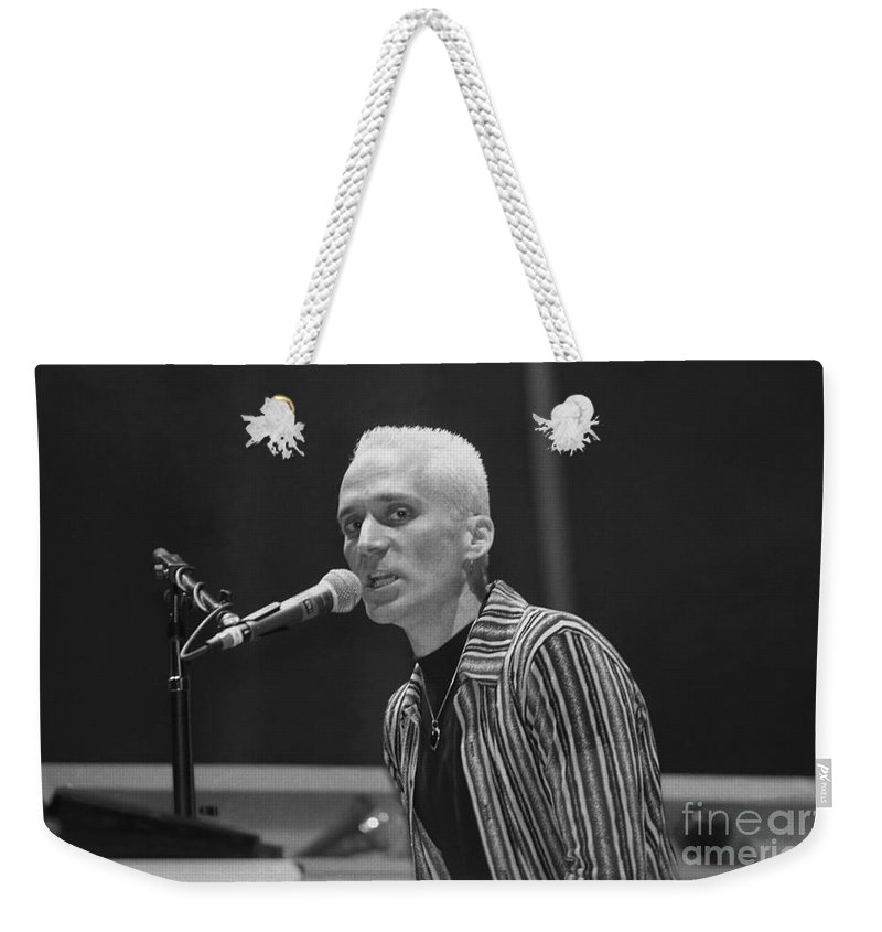 J.geils Weekender Tote Bag featuring the photograph J. Geils Band by Concert Photos
