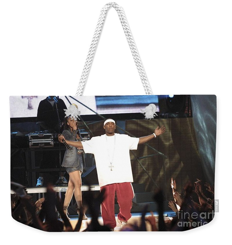 Rapper Weekender Tote Bag featuring the photograph Ja Rule by Concert Photos