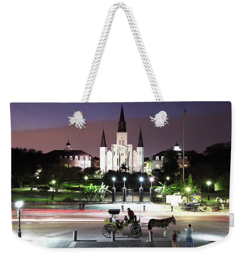 Southern Usa Weekender Tote Bag featuring the photograph Jackson Square by Denistangneyjr