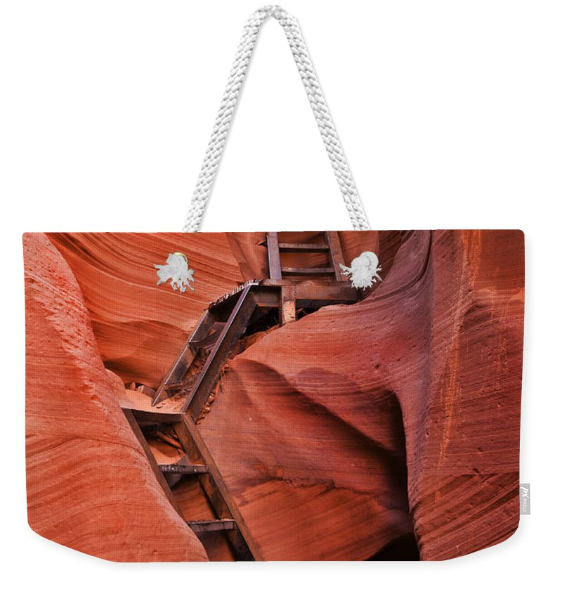 Ladder Weekender Tote Bag featuring the photograph Jacob's Ladder by Mike Dawson