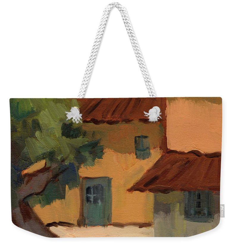 Jacques Weekender Tote Bag featuring the painting Jacques Farm In Provence by Diane McClary