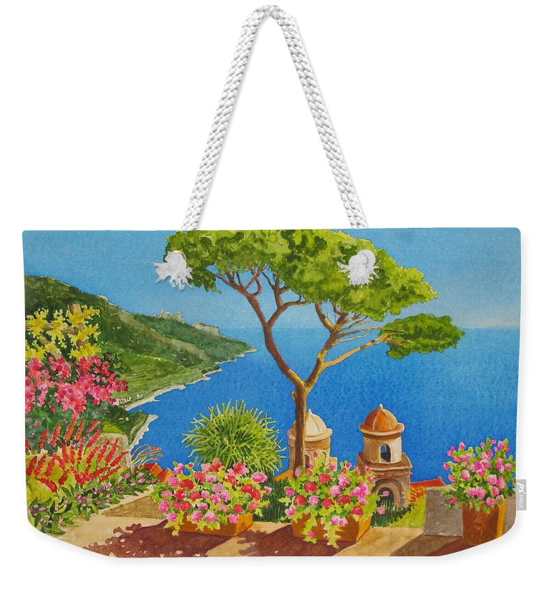 Italy Weekender Tote Bag featuring the painting Jacques View by Mary Ellen Mueller Legault