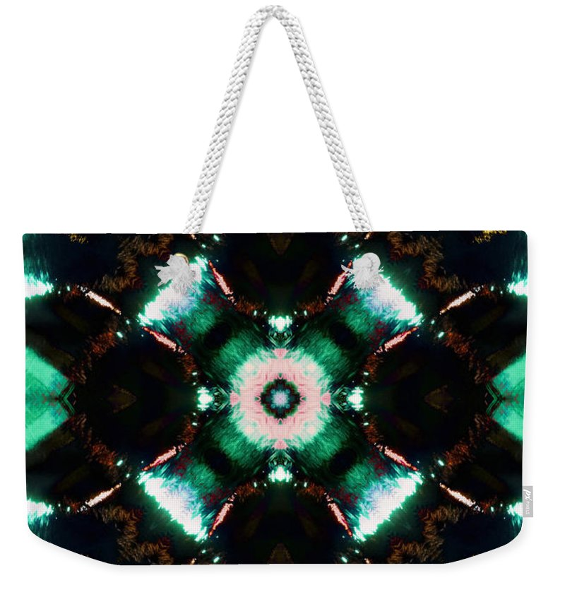 Water Weekender Tote Bag featuring the photograph Jade Reflections - 2 by Shawna Rowe