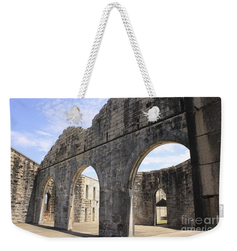 Historic Weekender Tote Bag featuring the photograph Jail Freedom by Alanna DPhoto