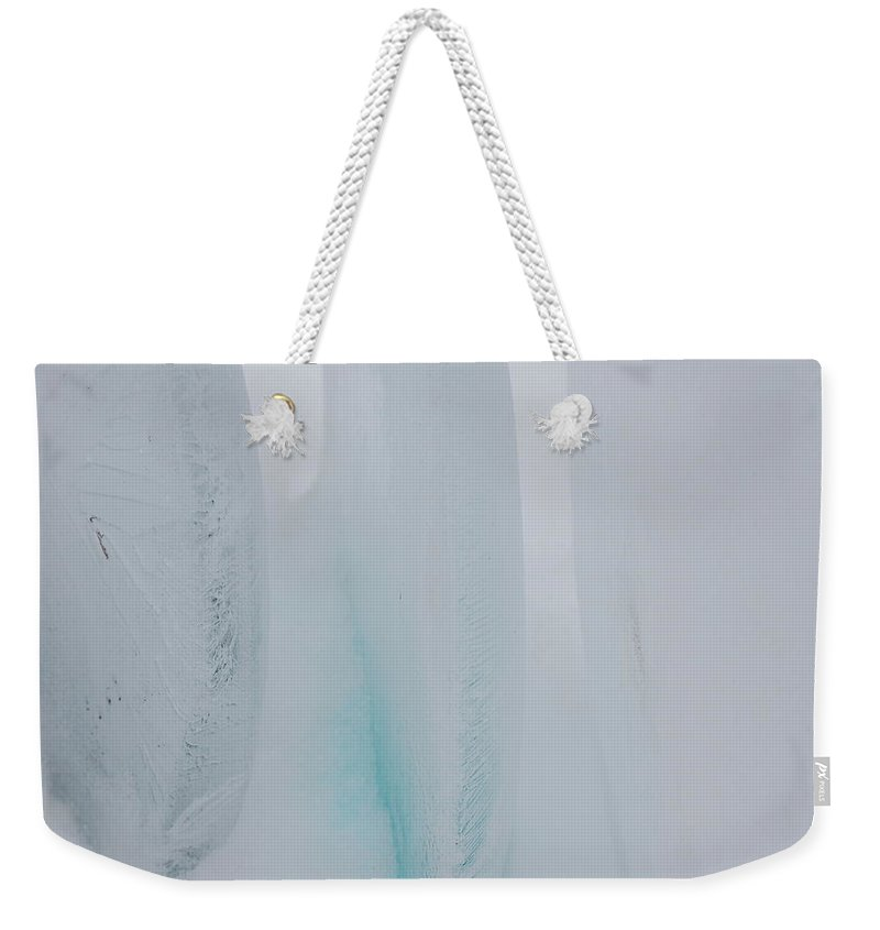 Gray Weekender Tote Bag featuring the photograph Jammer Abstract Blueness 001 by First Star Art