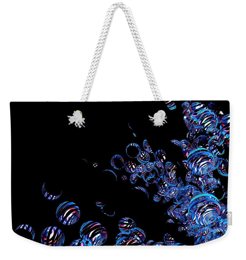 First Star Art Weekender Tote Bag featuring the digital art Jammer Bubble Splash by First Star Art