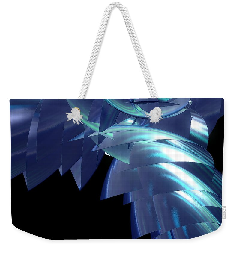 First Star Art Weekender Tote Bag featuring the digital art Jammer Turbo Sheen 001 by First Star Art