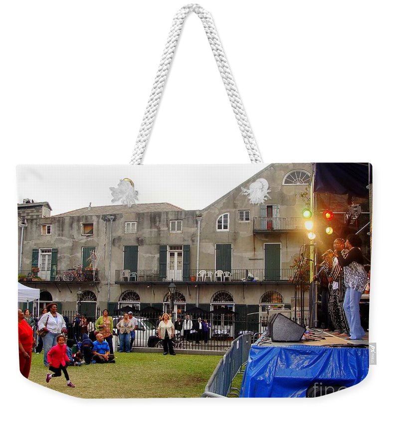 New Orleans Weekender Tote Bag featuring the photograph Jammin To Jazz by Ed Weidman