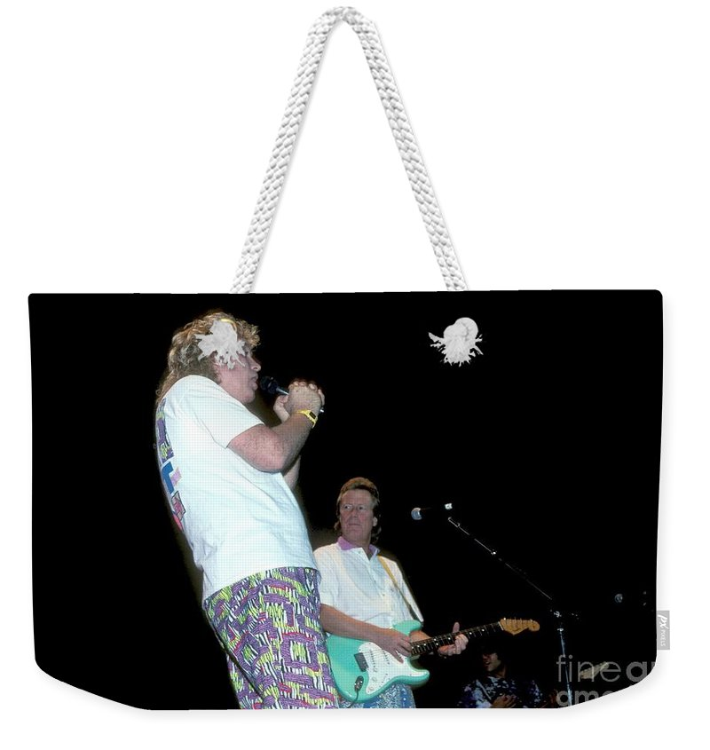Performance Weekender Tote Bag featuring the photograph Jan And Dean by Concert Photos