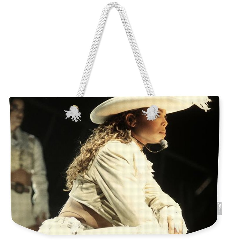 Janet Jackson Weekender Tote Bag featuring the photograph Janet Jackson by Concert Photos