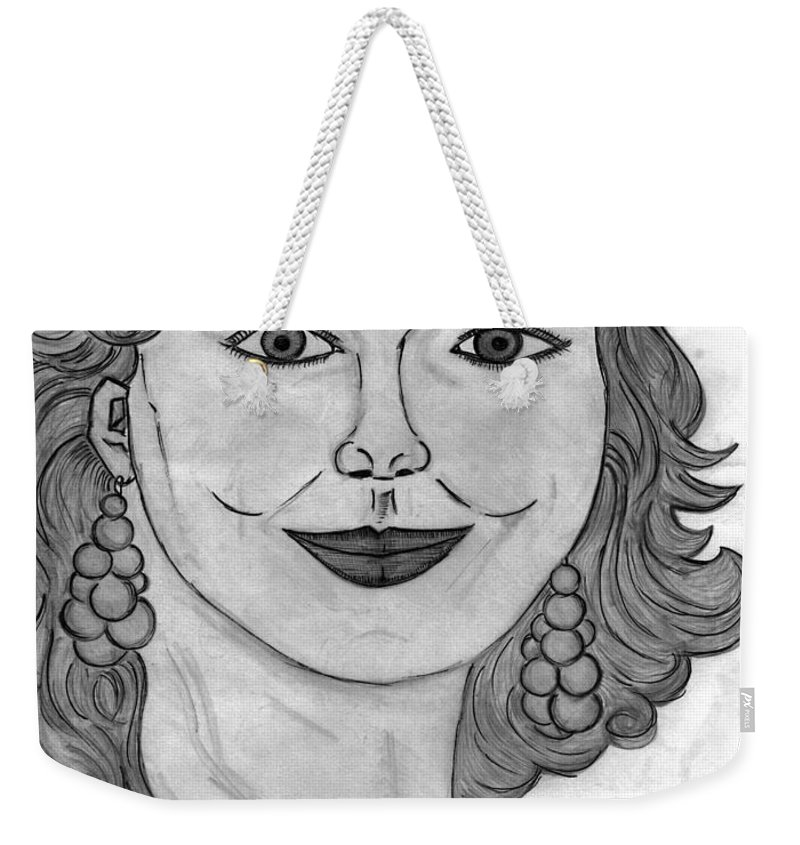 Portrait Weekender Tote Bag featuring the painting Janka by Alex Art and Photo