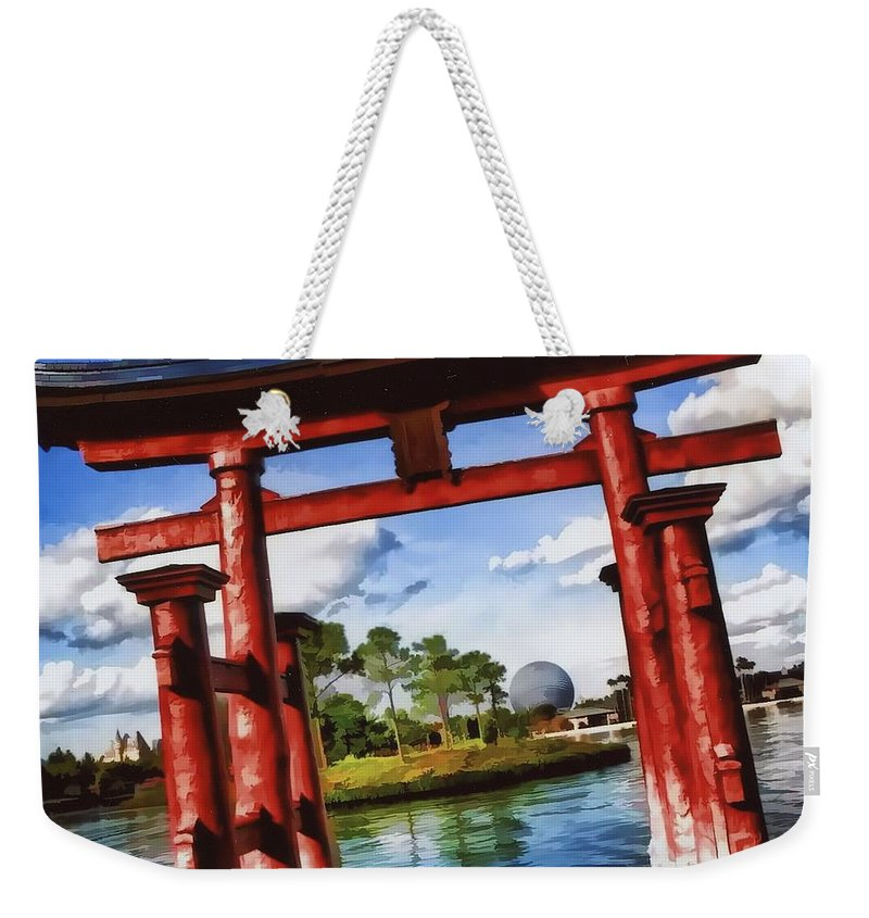 Epcot Weekender Tote Bag featuring the photograph Japan by Joyce Baldassarre