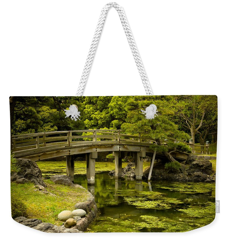 Japan Weekender Tote Bag featuring the photograph Japanese Garden Tokyo by Sebastian Musial