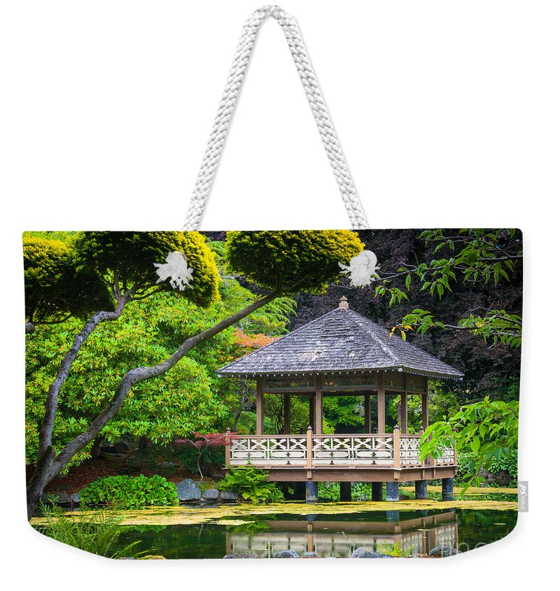 America Weekender Tote Bag featuring the photograph Japanese Gazebo by Inge Johnsson
