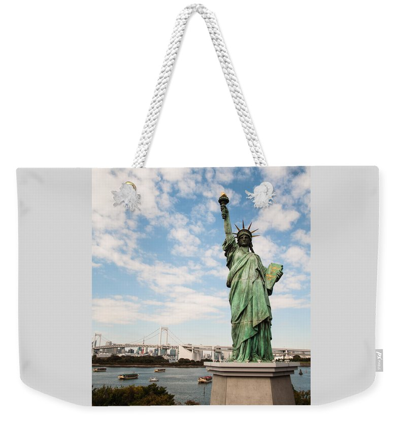 Japan Weekender Tote Bag featuring the photograph Japan's Statue Of Liberty by Jill Mitchell