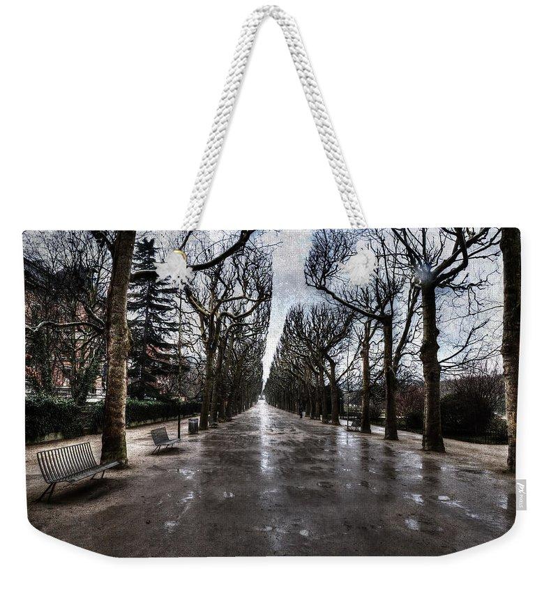 Evie Weekender Tote Bag featuring the digital art Jardin Des Plantes Paris France by Evie Carrier
