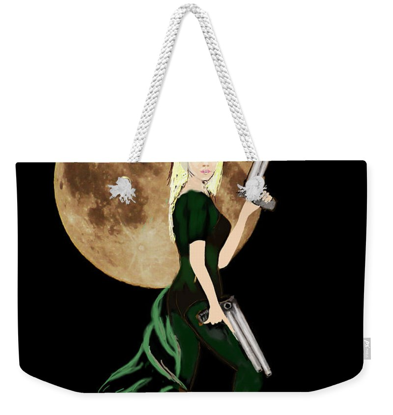 Fantasy Art Weekender Tote Bag featuring the photograph Jasmine And The Snow Leopard by Tom Conway