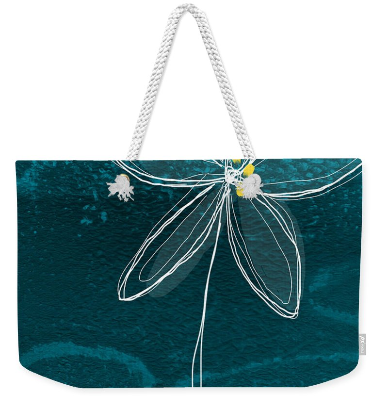 Abstract Weekender Tote Bag featuring the painting Jasmine Flower by Linda Woods