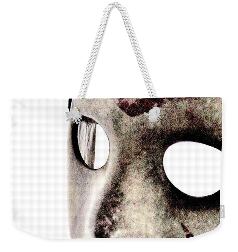 Iphone Weekender Tote Bag featuring the photograph Jason's Phone by Benjamin Yeager
