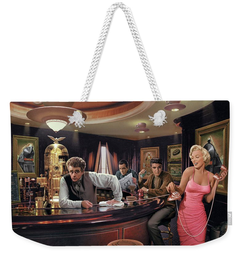 Marilyn Monroe Weekender Tote Bag featuring the painting Java Dreams by Chris Consani