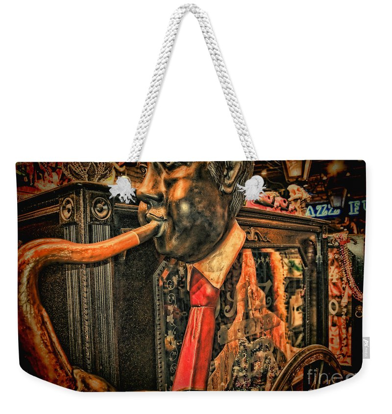 Louis Weekender Tote Bag featuring the photograph Jazz Funeral New Orleans Vintage by Kathleen K Parker