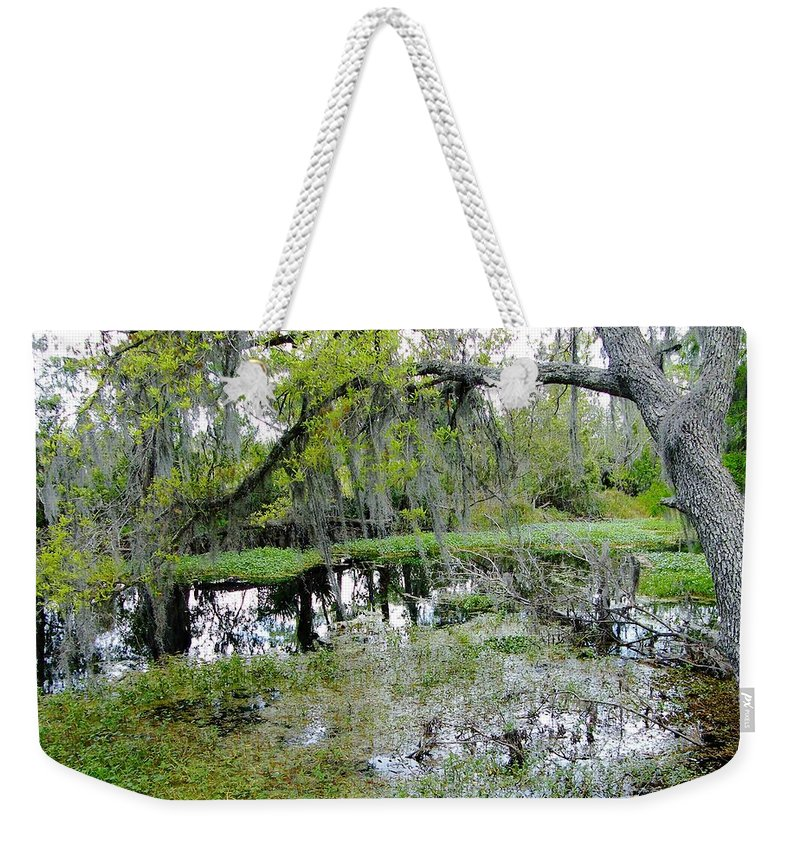 Swamp Weekender Tote Bag featuring the photograph Jean Lafitte Swamp by Lizi Beard-Ward