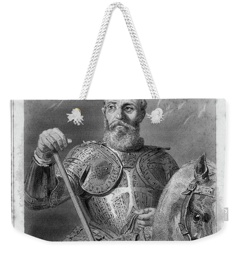 16th Century Weekender Tote Bag featuring the painting Jean Parisot De La Valette (1494-1568) by Granger