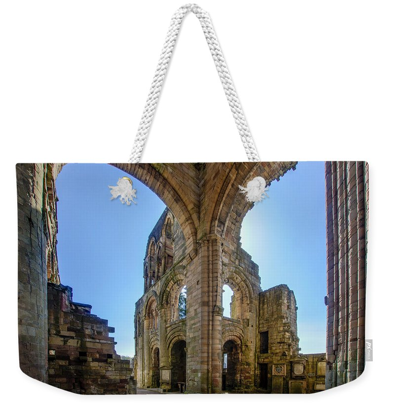 Jedburgh Abbey Weekender Tote Bag featuring the photograph Jedburgh Abbey - 2 by Paul Cannon