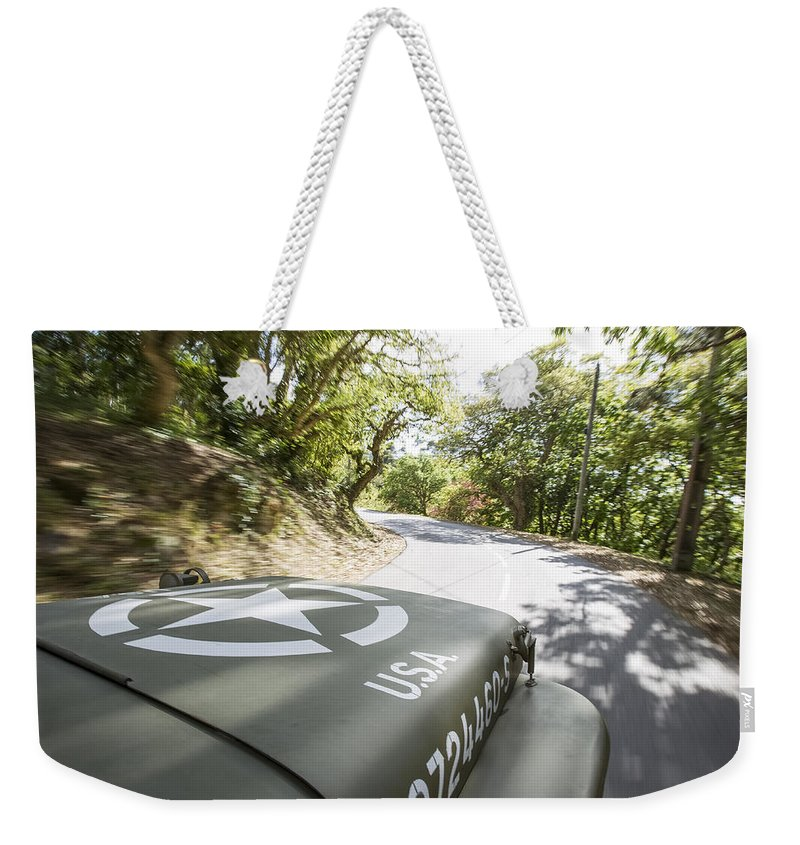 Jeep Weekender Tote Bag featuring the photograph Jeep Willys by Jose Bispo