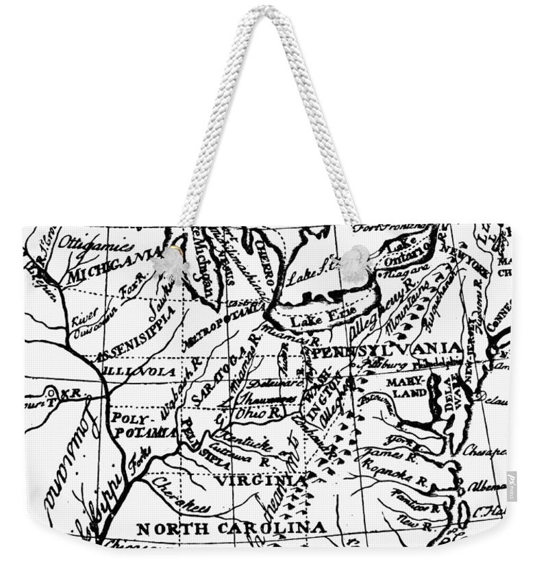 1784 Weekender Tote Bag featuring the photograph Jefferson: States, 1784 by Granger