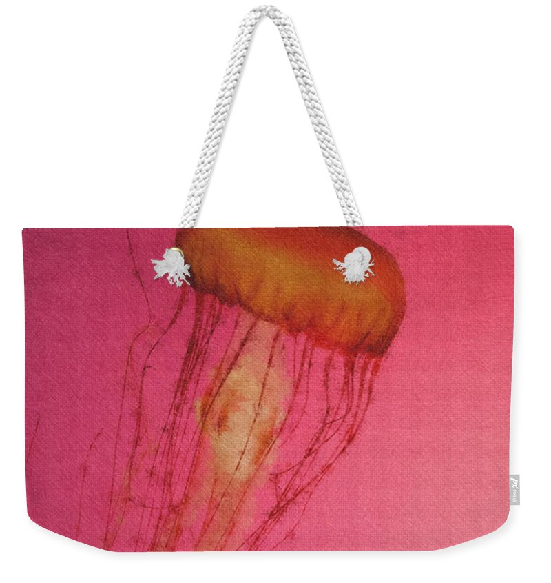 Weekender Tote Bag featuring the photograph Jelly 1 Pastel Chalk by David Lange