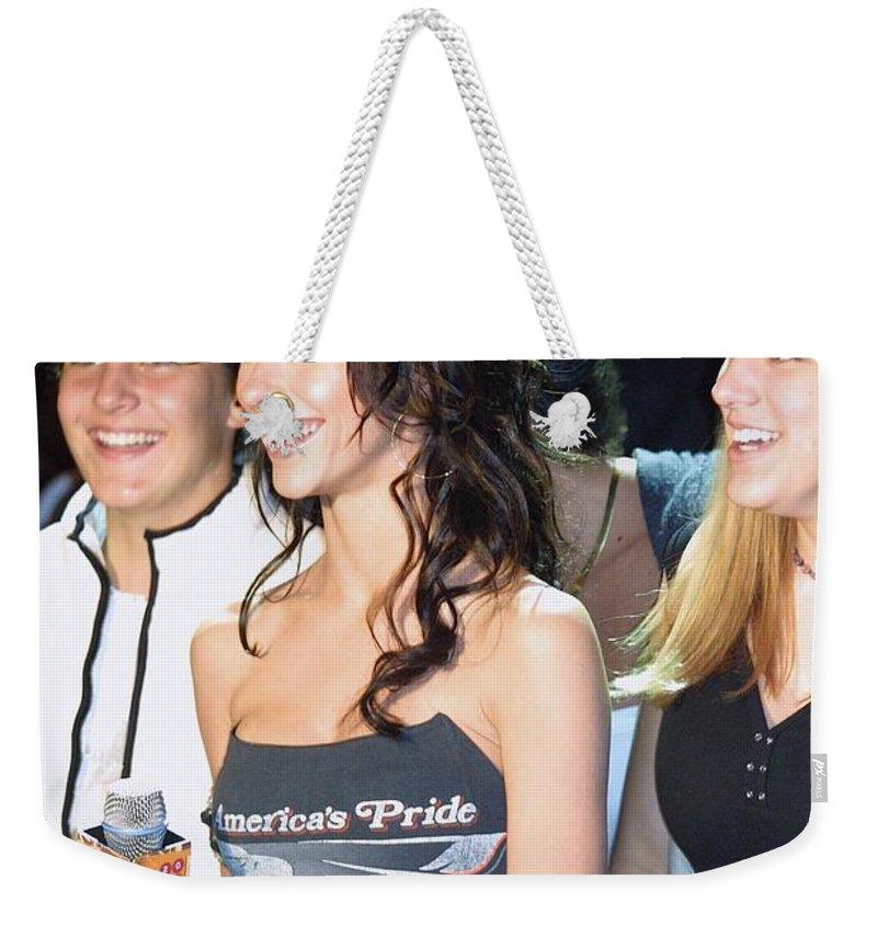 Jennifer Love Hewitt Weekender Tote Bag featuring the photograph Jennifer Love Hewitt by Concert Photos