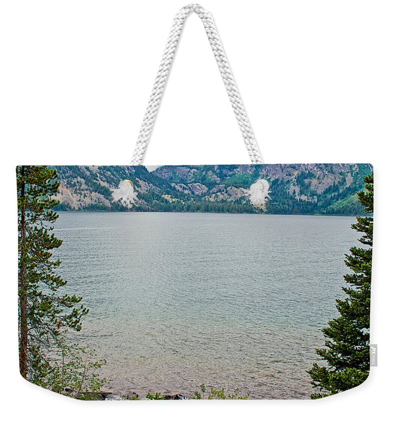 Jenny Lake In Grand Teton National Park Weekender Tote Bag featuring the photograph Jenny Lake In Grand Tetons National Park-wyoming by Ruth Hager
