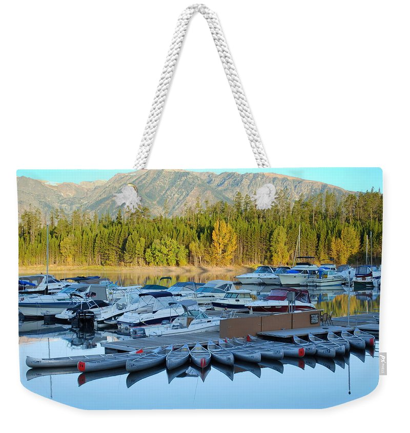 Jenny Lake Weekender Tote Bag featuring the photograph Jenny Lake by Kathy Sampson
