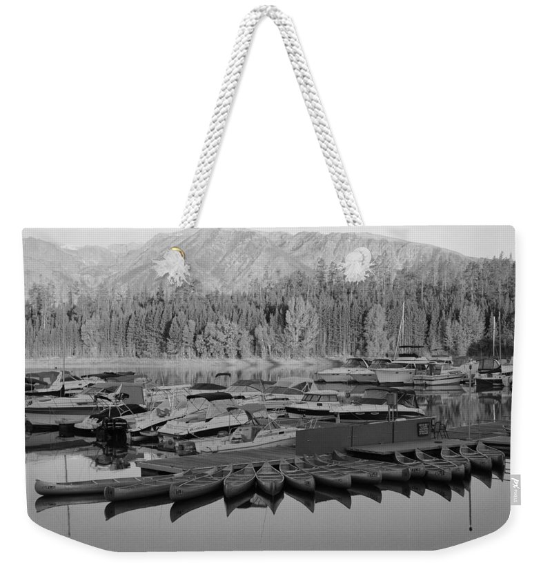 Jenny Lake Weekender Tote Bag featuring the photograph Jenny Lake Wyoming  by Kathy Sampson
