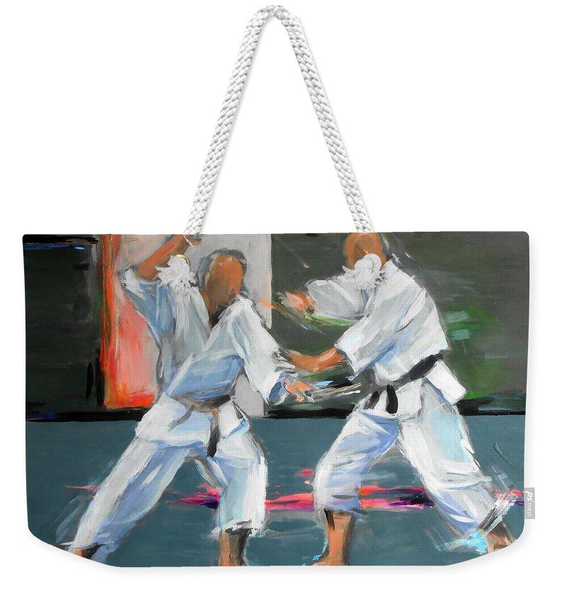 Karate Weekender Tote Bag featuring the painting Jerry En Gertjan by Lucia Hoogervorst