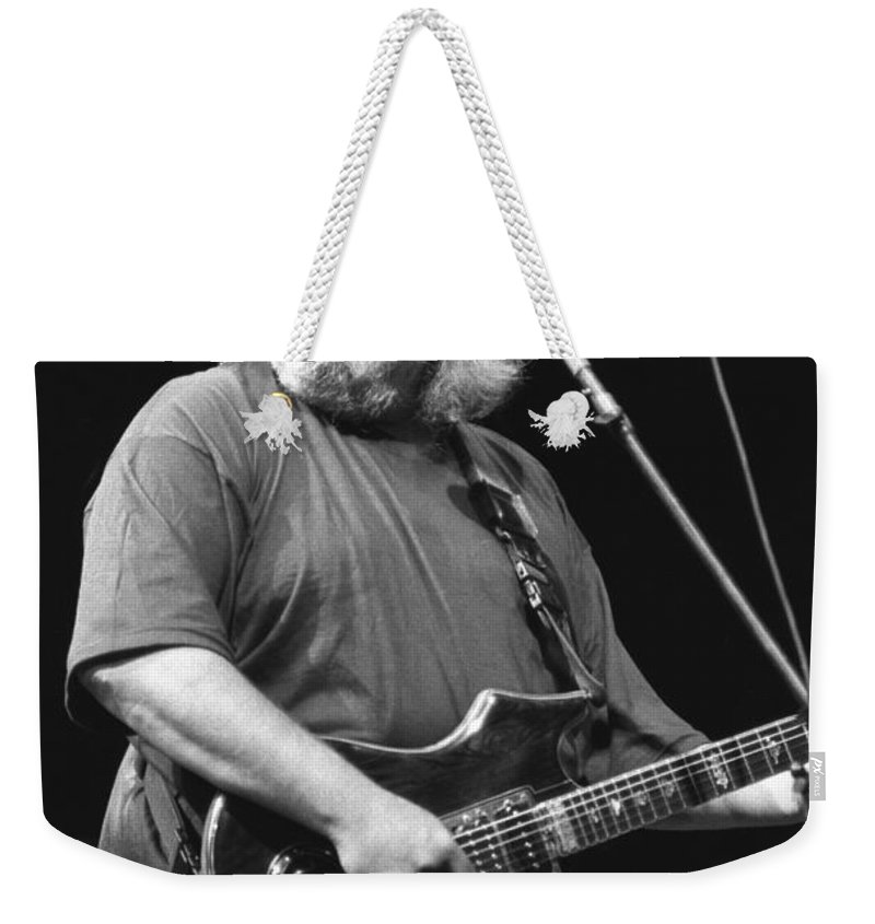 Musician Jerry Garcia Weekender Tote Bag featuring the photograph Jerry Garcia Band by Concert Photos
