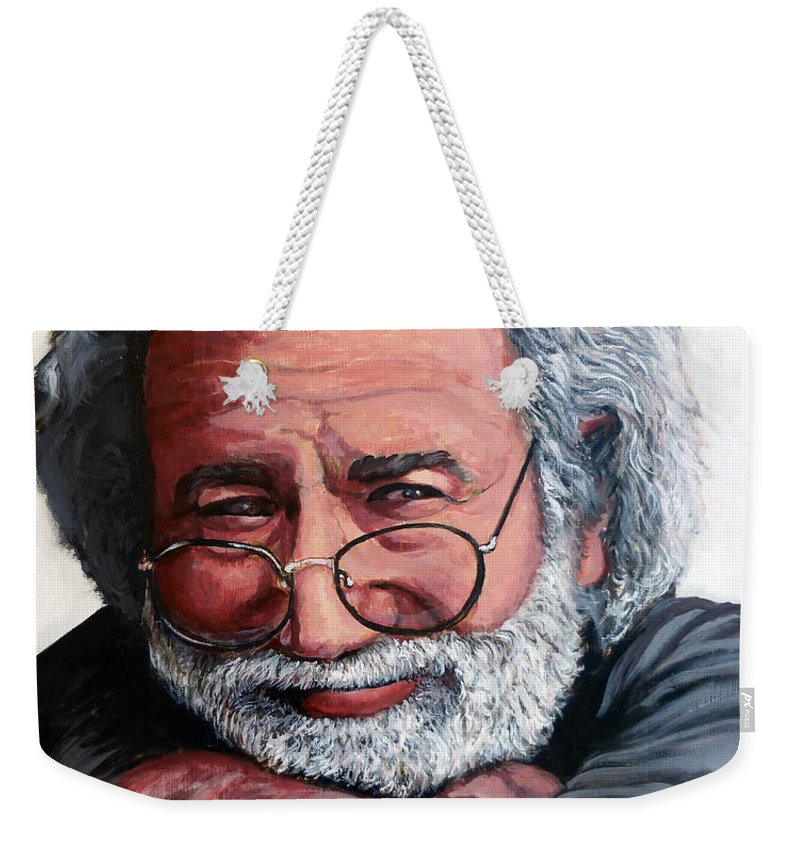 Jerry Weekender Tote Bag featuring the painting Jerry Garcia by Tom Roderick