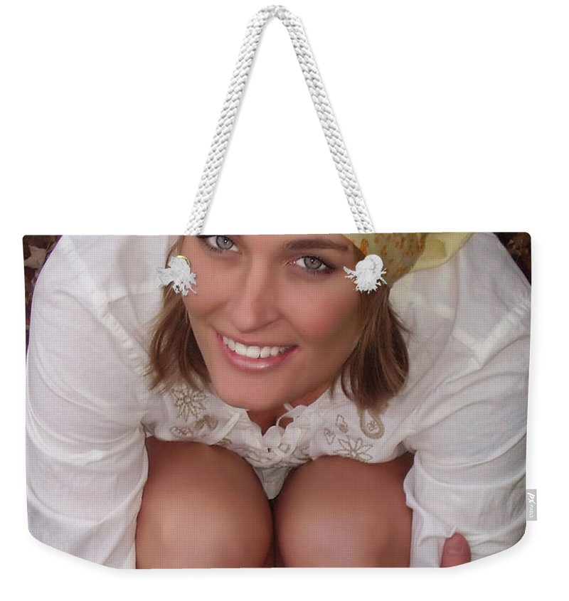 Hippy Weekender Tote Bag featuring the photograph Jess by Kristie Bonnewell