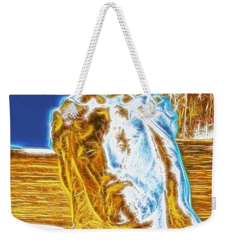 Jesus Paid It All Weekender Tote Bag featuring the photograph Jesus Paid It All by Methune Hively