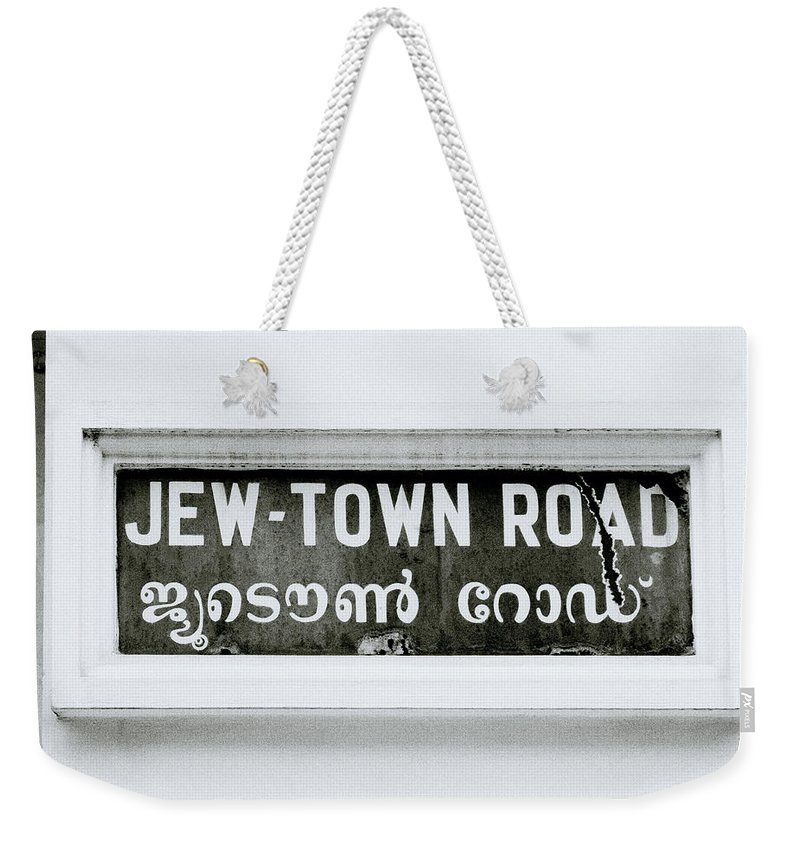 Jew Weekender Tote Bag featuring the photograph Jew Town by Shaun Higson