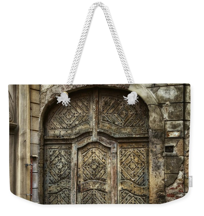 Joan Carroll Weekender Tote Bag featuring the photograph Jewish Quarter Doorway by Joan Carroll