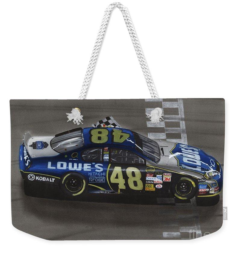 Stock Car Racing Weekender Tote Bags