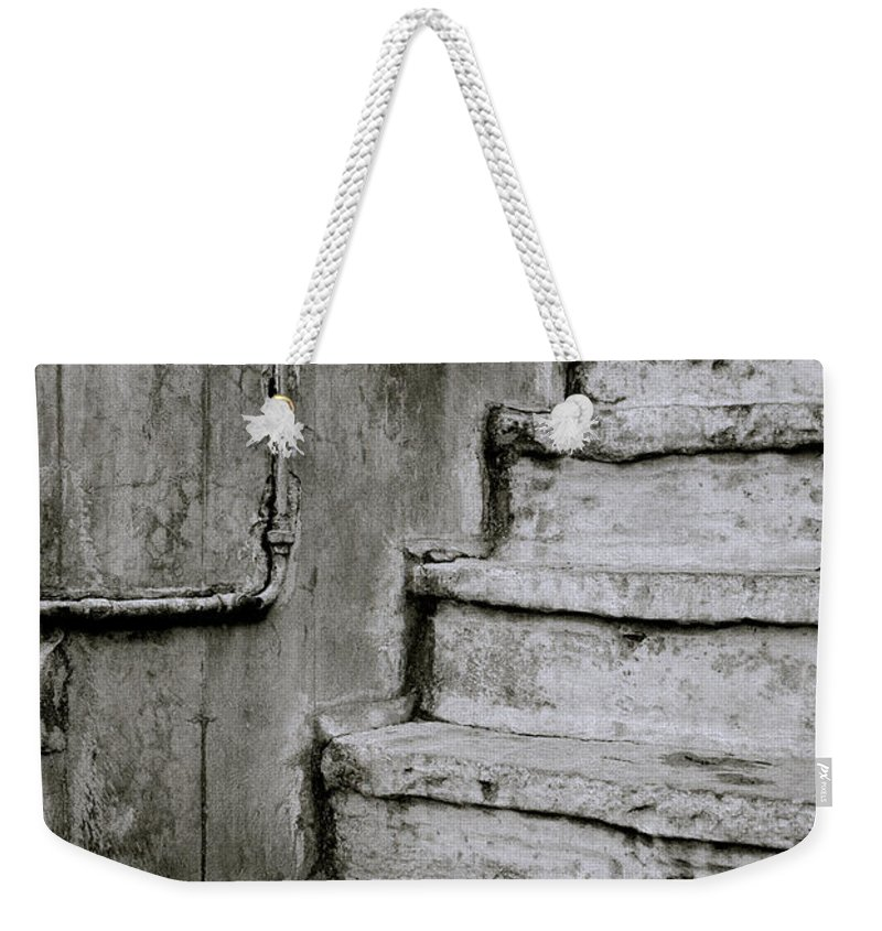 India Weekender Tote Bag featuring the photograph The Monochrome Steps by Shaun Higson